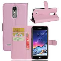 Чехол-книжка Litchie Wallet для LG K8 2017 Светло-розовый