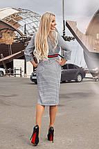 """Облегающее миди-платье на запах """"Helga"""" с четвертным рукавом (2 цвета), фото 3"""