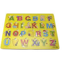Развивающая доска с разборной картинкой англ.алфавит тип 4