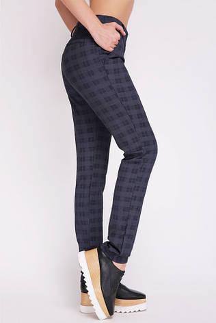 """Синие лосины в клетку """"VERA"""" выглядят как классические женские брюки, фото 2"""