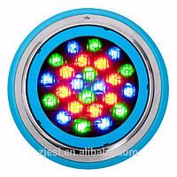 Подводный накладной светильник для бассейна 18 ватт RGB D218mm с пультом IP68 Ecolend