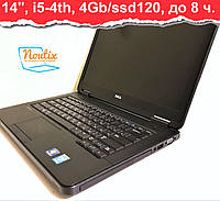 БУ Ноутбук Dell Latitude E5440 14ʺ (1366×768), Intel Core i5-4300U, Intel HD, RAM 4GB, SSD 120GB, АКБ до 8 ч.