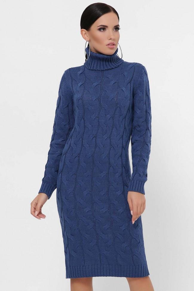 """Однотонне синє в'язана сукня """"BRITNEY"""""""