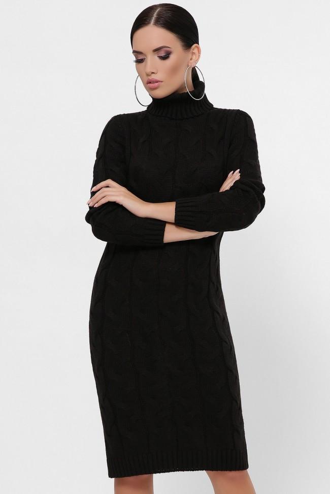 """Черное вязаное платье """"BRITNEY"""""""