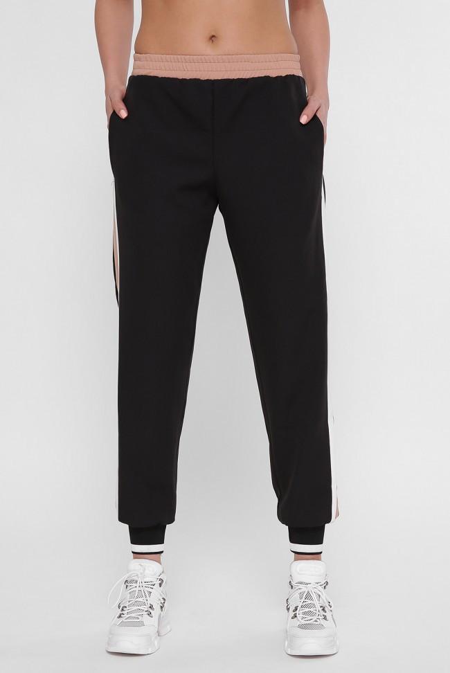 Женские черные штаны на резинке