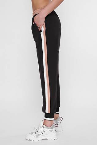 Женские черные штаны на резинке, фото 2