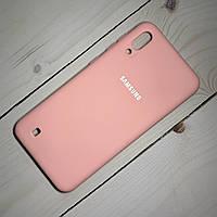 Силиконовый чехол Silicone Case Samsung Galaxy M10 (2019) Розовый