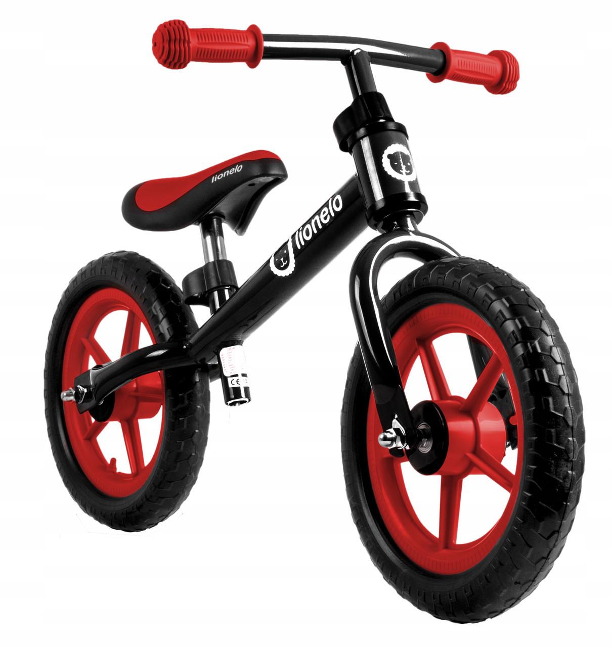 Велобег детский Lionelo Fin черно-красный (беговел самокат-беговел детский транспорт)