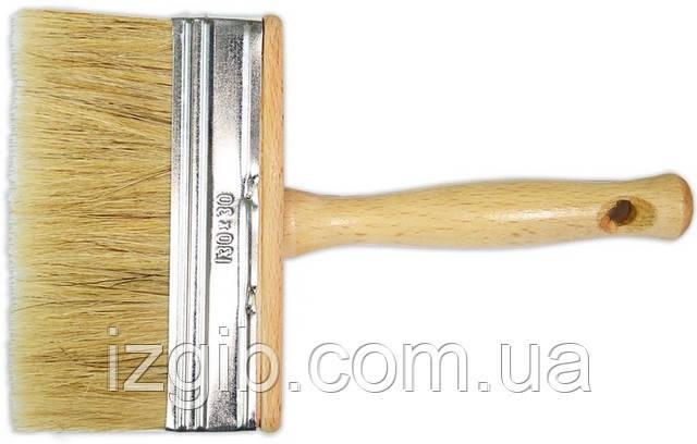 Кисть макловица Украина ТД, лакированная ручка, длинная щетина 30х130 мм