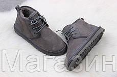 Мужские угги UGG Australia Neumel Grey ботинки УГГ Ньюмел Австралия серые, фото 3