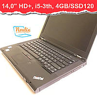БУ Ноутбук Lenovo ThinkPad T430 14,0ʺ (1600×900) LED, Core i5-3320M, RAM 4GB, SSD120, АКБ 1ч. Класс А+