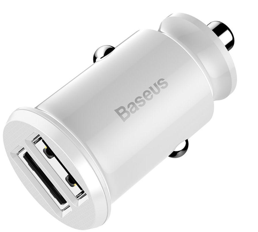 Автомобильное зарядное Baseus Grain Car Charger 3.1A dual-USB в прикуриватель авто