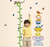 Детская наклейка ростомер Зоопарк AY9201