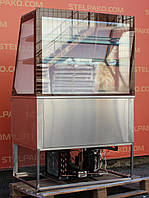 Кондитерская холодильная витрина «Росс Avellina» 1.0 м. (Украина), полностью из нержавеющей стали, Б/у, фото 1