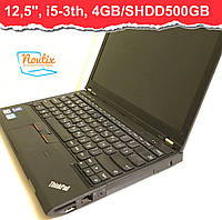 БУ Ноутбук Lenovo ThinkPad X230 12,5ʺ (1366×768) LED IPS, Core i5-3320M, RAM 4GB, SHDD500GB, АКБ нет. Класс B
