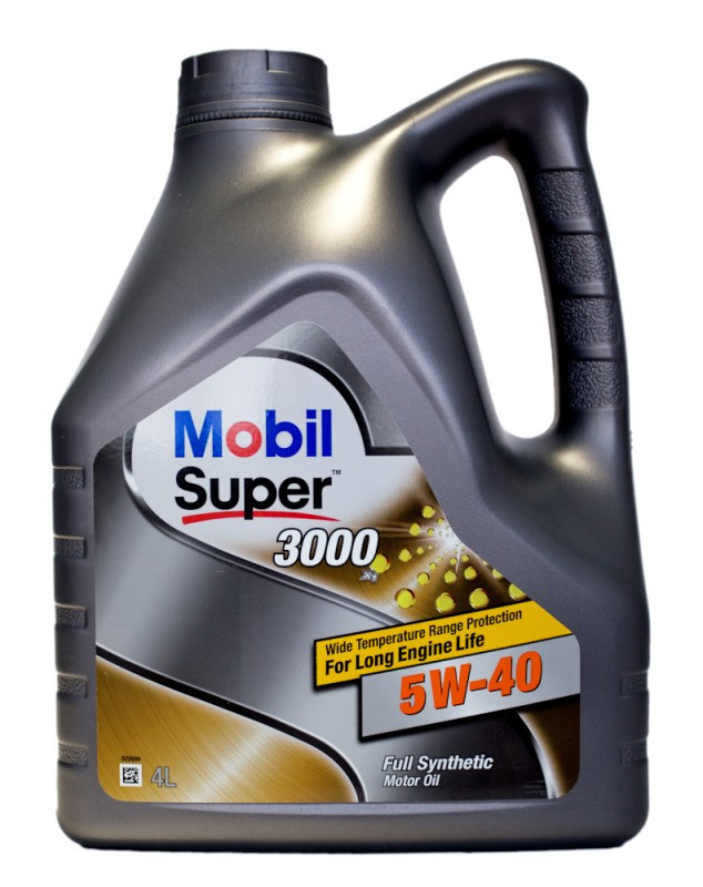 Масло моторное MOBIL SUPER 3000 5W-40 API SN/SM (Канистра 4л)