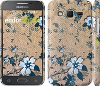 "Чехол на Samsung Galaxy Core Prime G360H Синие цветы на коричневом фоне ""506c-76"""