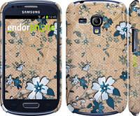 "Чехол на Samsung Galaxy S3 mini Синие цветы на коричневом фоне ""506c-31"""