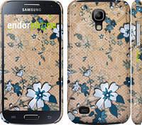 "Чехол на Samsung Galaxy S4 mini Синие цветы на коричневом фоне ""506c-32"""