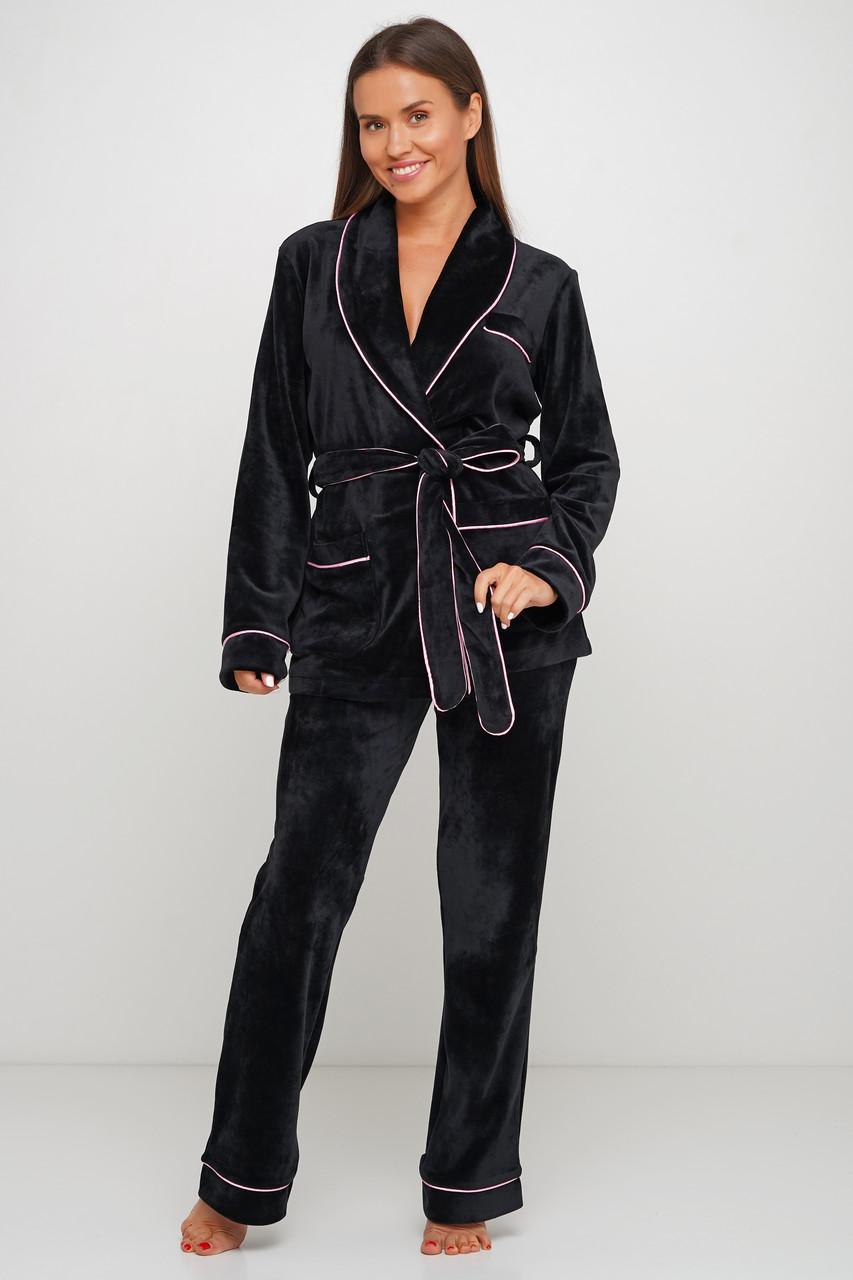 Велюровая пижама пиджак и штаны