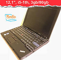 БУ Ноутбук Lenovo ThinkPad X201 12.1ʺ (1280×800) LED, Core i5-520M, RAM 3GB, HDD 80GB, АКБ 3 мин. Класс B