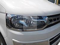 Хром накладки на передние фары volkswagen t5+(t6) transporter (фольксваген т5+(т6) транспортер 2009+)