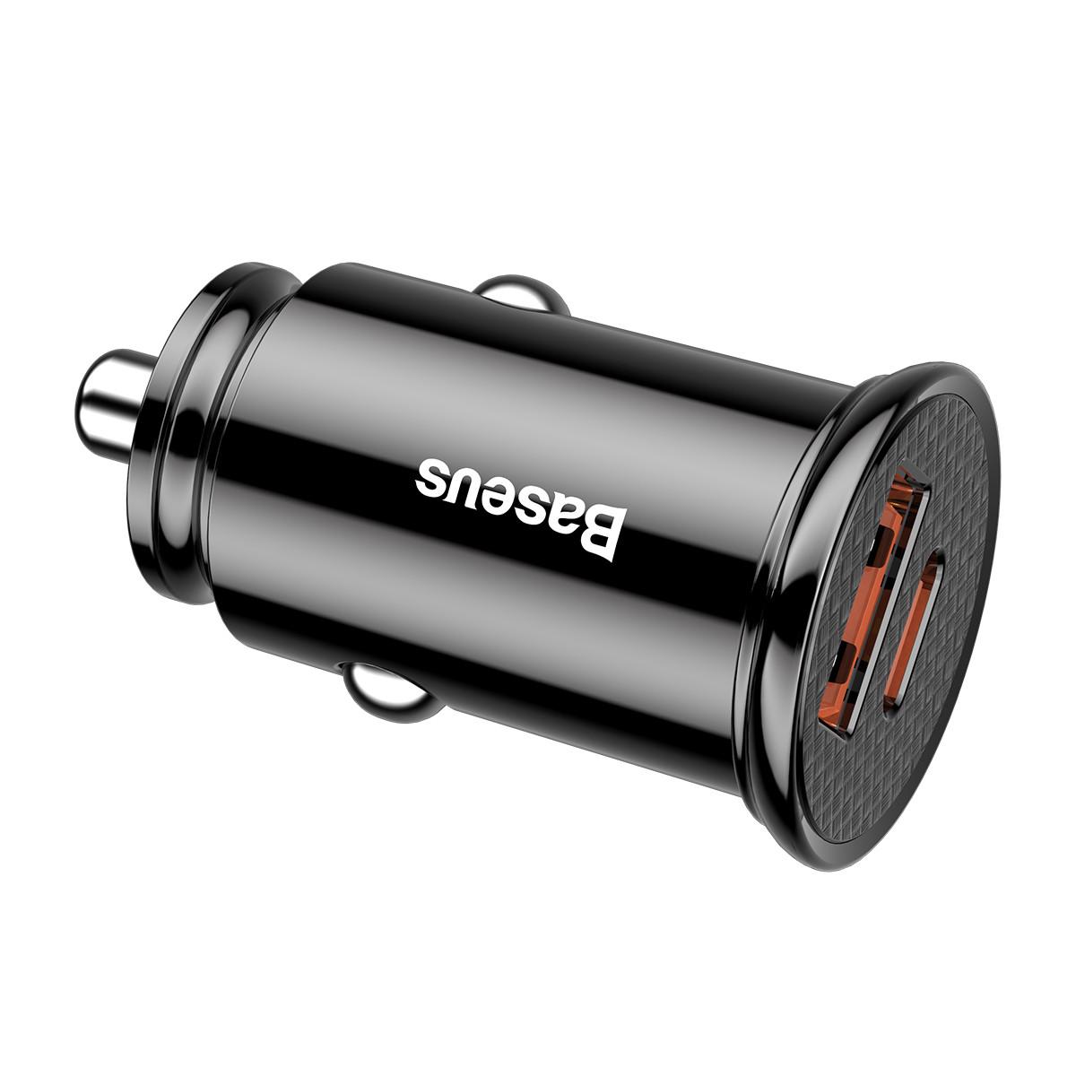 Автомобильное зарядное Baseus Grain Car Charger 3.1A USB + Type C в прикуриватель авто