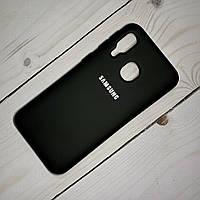 Чехол Silicone Case Samsung Galaxy A40 (2019) Черный, фото 1