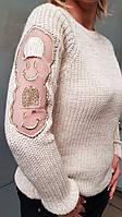 Женская вязаная кофта с оригинальными рукавами (0310/24), фото 1