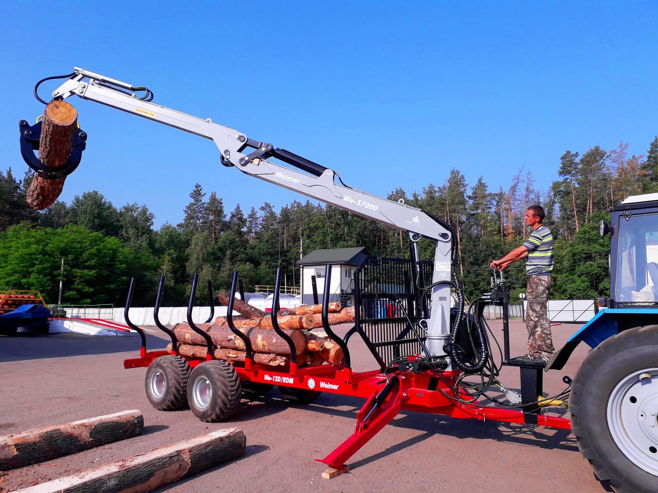Гидроманипулятор для леса We-S7000 Weimer (Эстония)