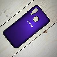 Чохол Silicone Case Samsung Galaxy A40 (2019) Фіолетовий