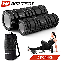 Роллер массажер для кросфита и йоги Hop-Sport HS-001YG black