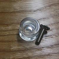 Ножка пластиковая  [ АКРИЛ ] прозрачная ( + винт М4 )