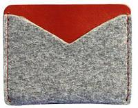 Мега-компактный кейс-портмоне BlankNote BN-KK-5-felt-k Серый