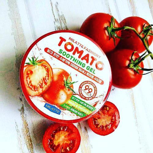 Многофункциональный гель Milatte Fashiony Tomato Soothing Gel Универсальный гель для ухода кожей лица и тела