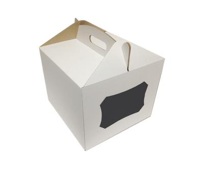Коробка самосборная для торта 25*25*30 Галетте - 06862