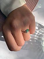 Женское кольцо посеребренное регулируемого размера Флора