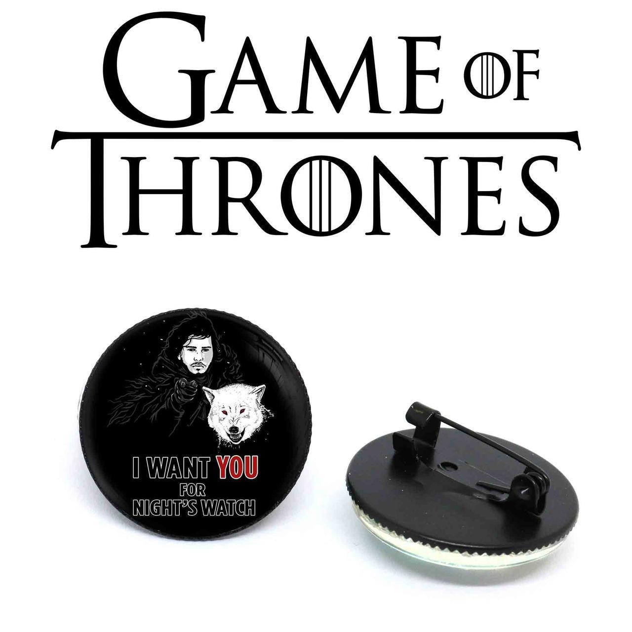 """Значок Джон """"I want YOU for night's watch"""" Игра престолов / Game of Thrones"""