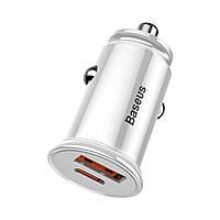 Автомобильное зарядное Baseus Grain Car Charger 3.1A USB + Type C в прикуриватель авто, фото 1