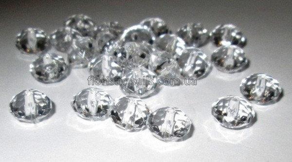 Кристали / намистини 25 шт, плоскі 1/0,6 см