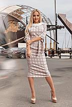 """Облегающее деловое миди-платье """"Clara"""" с четвертным рукавом и поясом (3 цвета), фото 2"""