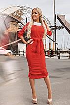"""Облегающее деловое миди-платье """"Clara"""" с четвертным рукавом и поясом (3 цвета), фото 3"""