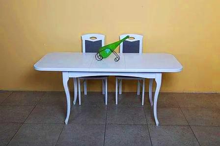 """Розкладний кухонний стіл """"Мартін"""" (білий або беж) 130см"""