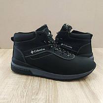 Зимові чоловічі черевики натуральна шкіра чорні шкіряні високі черевики, фото 2