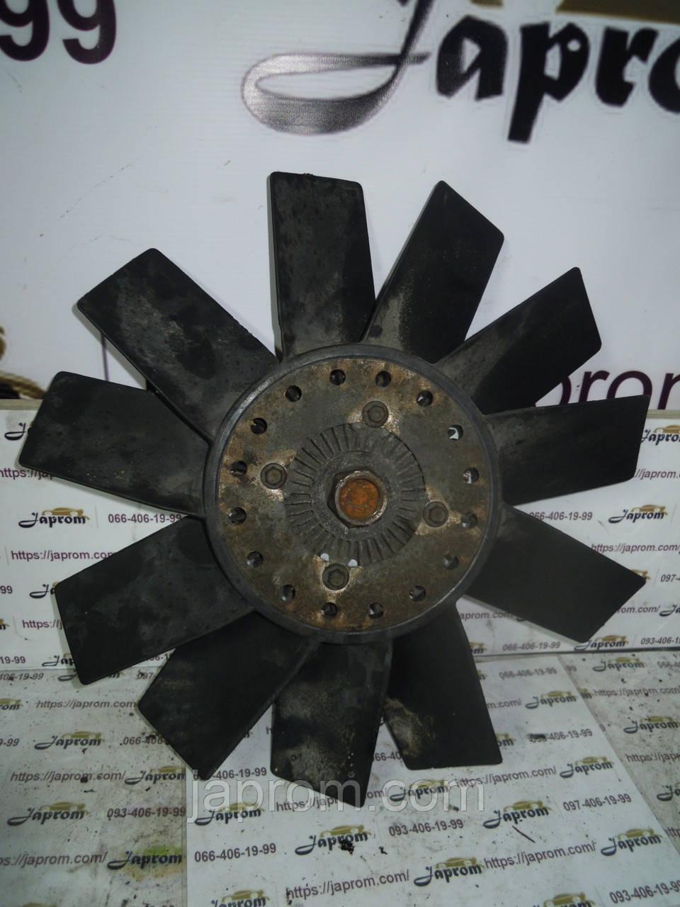 Вентилятор (диффузор) радиатора основного + вискомуфта Ford Transit 1994-2003г.в. 2.5 TD