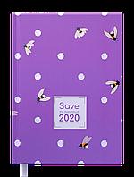 Ежедневник дат. 2020 SAVE, A5, 336 стр., фиолетовый
