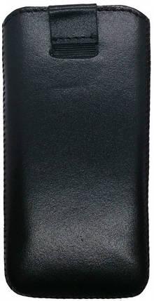 Grand Premium кожаный чехол-вытяжка для Sigma X-style 33 черный, фото 2