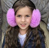 Качественные детские и женские меховые наушники. Мех натуральный кролик. Регулируются., фото 1