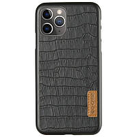 "Кожаная накладка G-Case Crocodile Dark series для Apple iPhone 11 Pro (5.8"")"