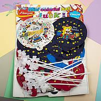 """Самонадувающийся фольгированный воздушный шарик на палочке """"С днем рождения"""" 12 штук, фото 3"""